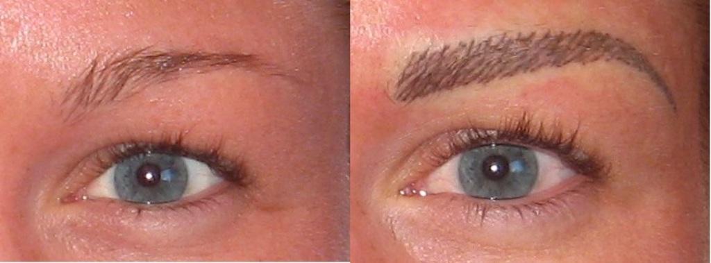 Augenbrauen mit härchen technik